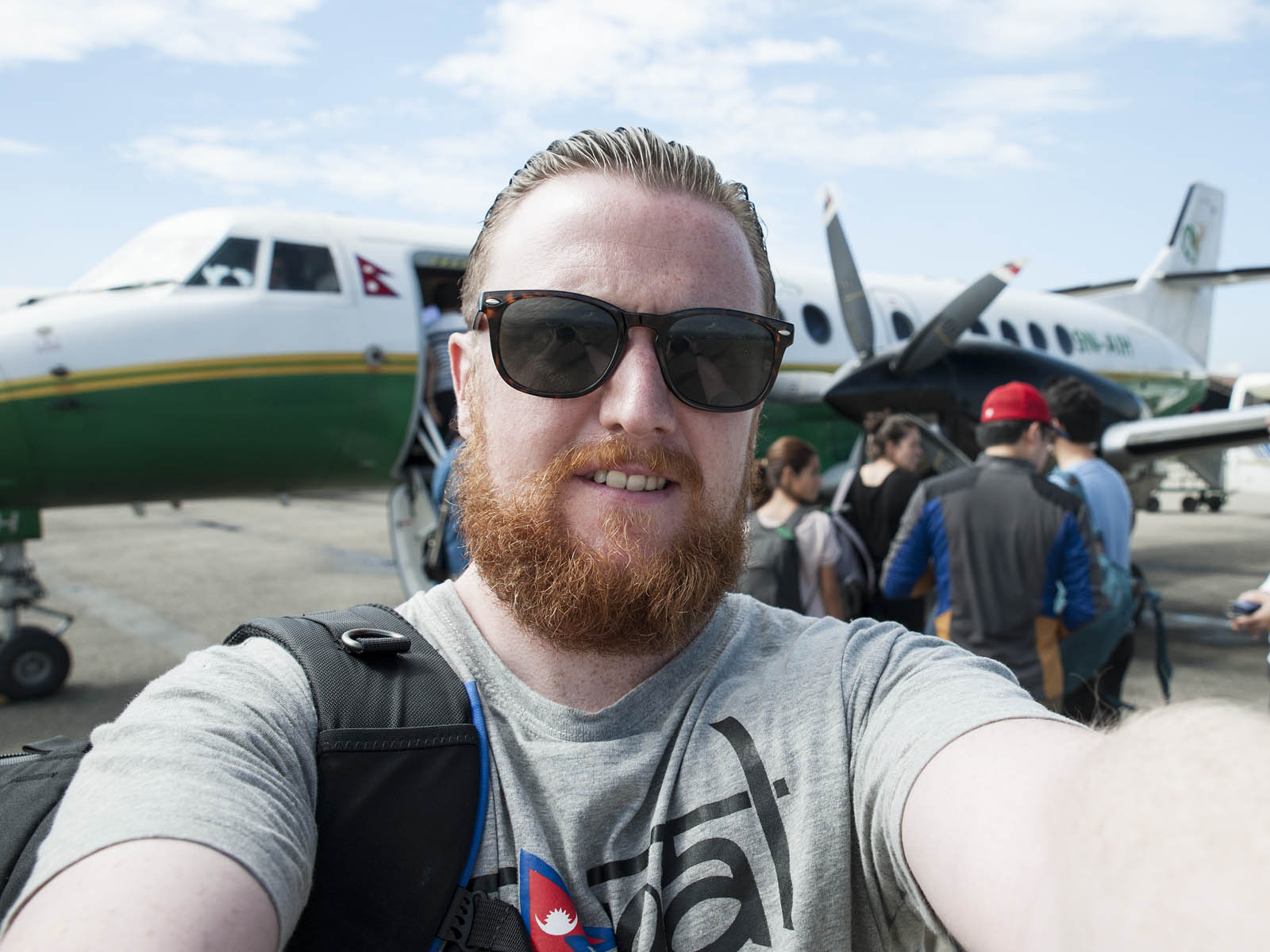 All aboard! Free time at the weekend led us to getting the plane to Pokhara for some outdoor fun!