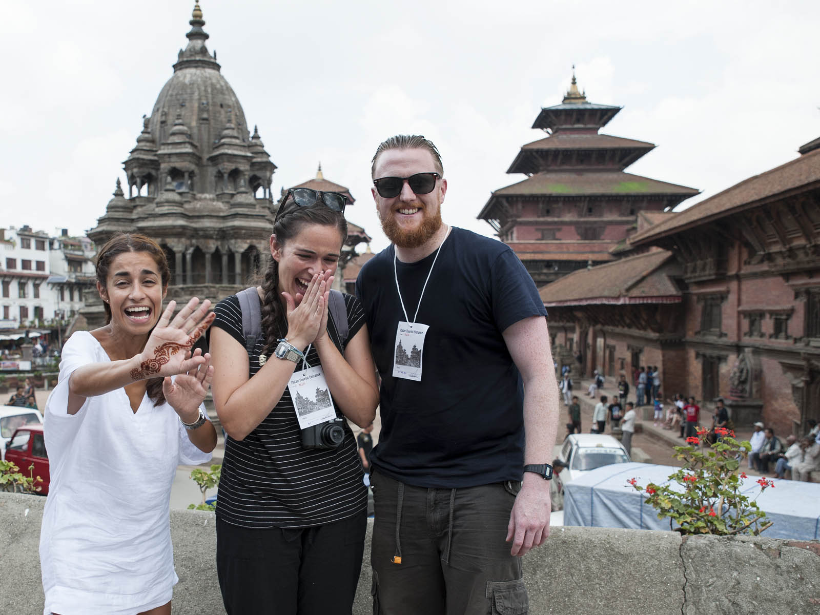 Patan was one of my favourite places in Kathmandu.  This is a photo of some friends and I,  in front of Durbar Square.