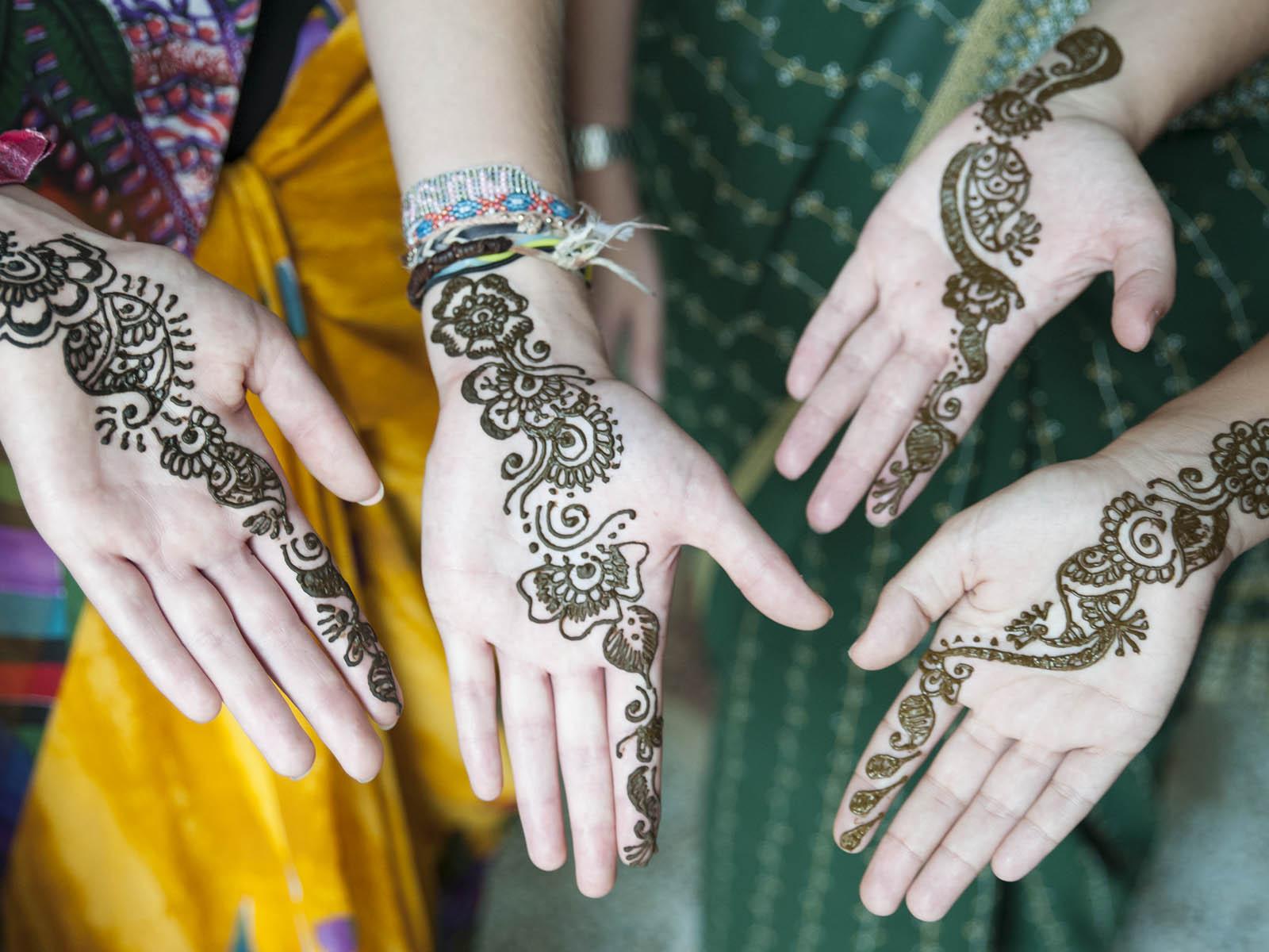 The girls enjoyed getting their Henna Tattoos!