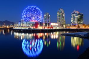 Vancouver at night, Vancouver, British Columbia, Canada