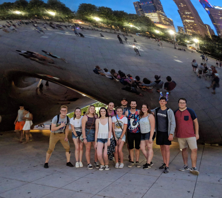 friends at the Bean in Chicago