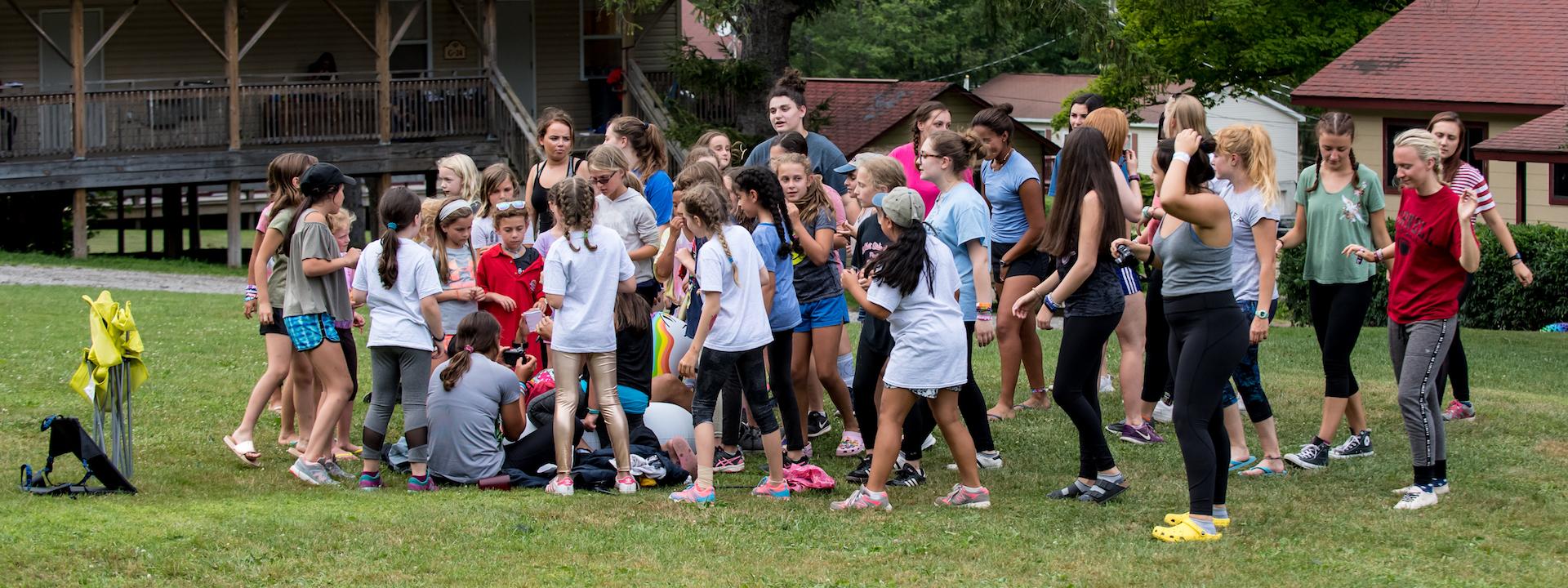 having fun at summer camp