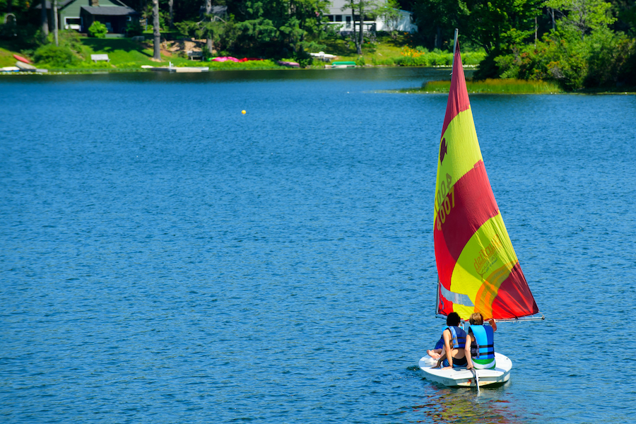 Windsurfing at Summer Camp