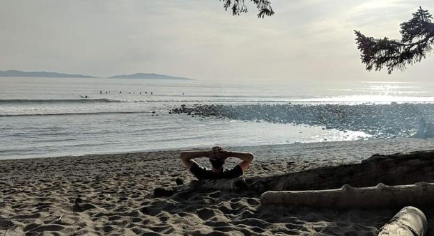 Relaxing on Sombrio beach