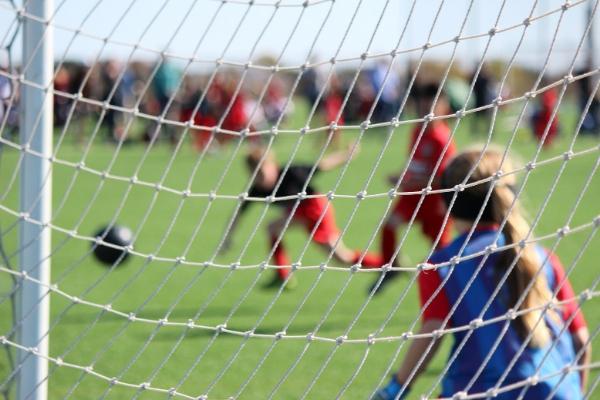 girl goalkeeper in soccer