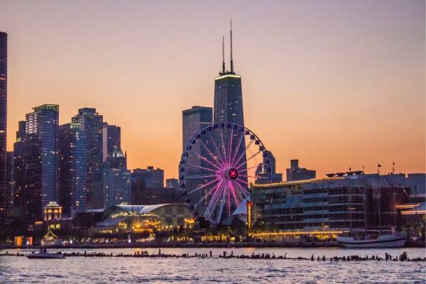Ferris wheel at Navy Pier Chicago