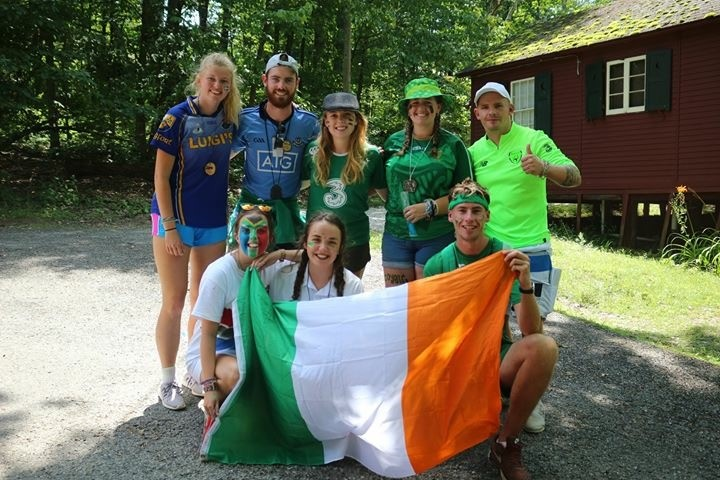 cathal and other counsellors at camp