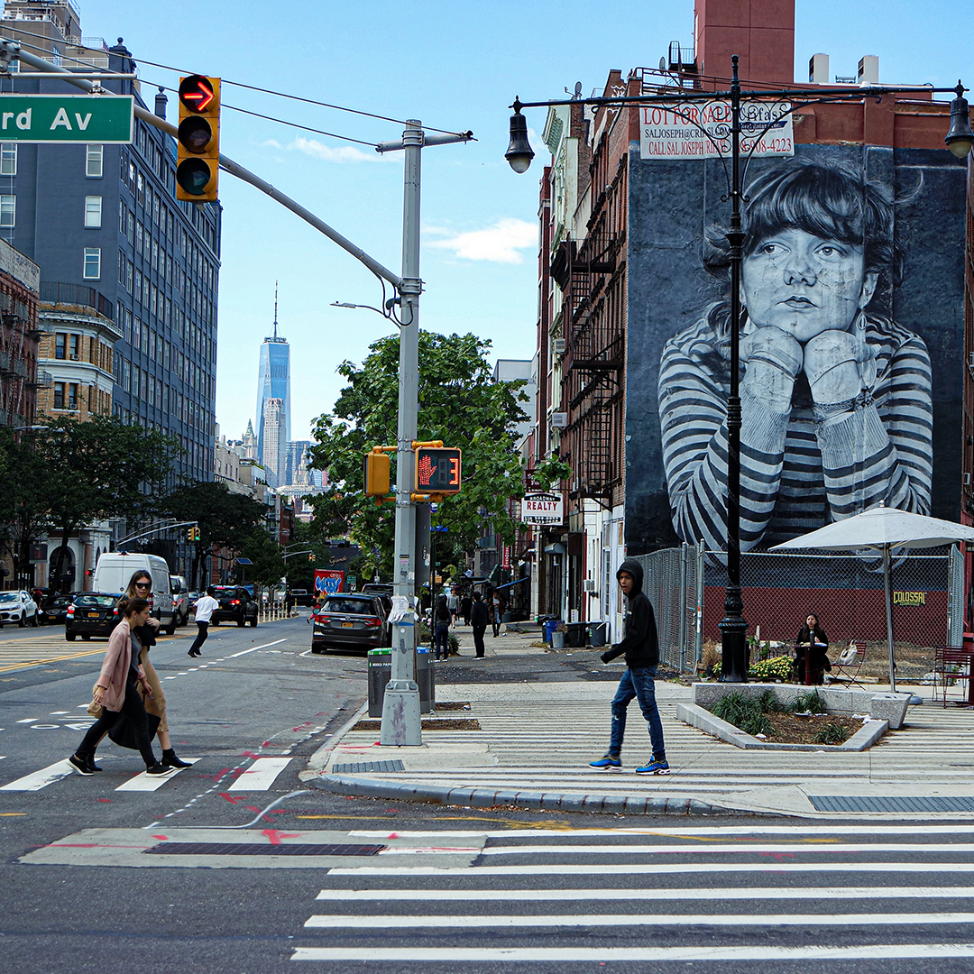 A view of Bedford Ave in Williamsburg